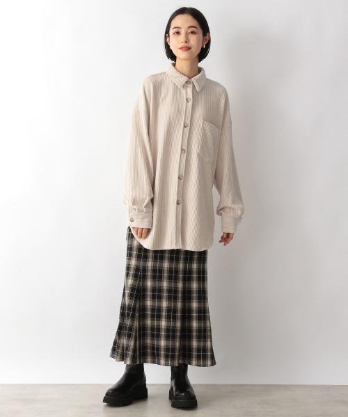 [LOWRYS FARM] チェックマーメイドスカート 215656