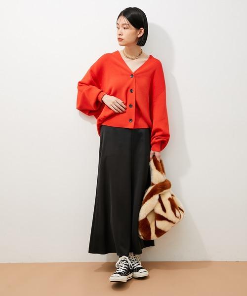 [ADAM ET ROPE'] 【アウトレット店舗・WEB限定】サテンマーメイドスカート