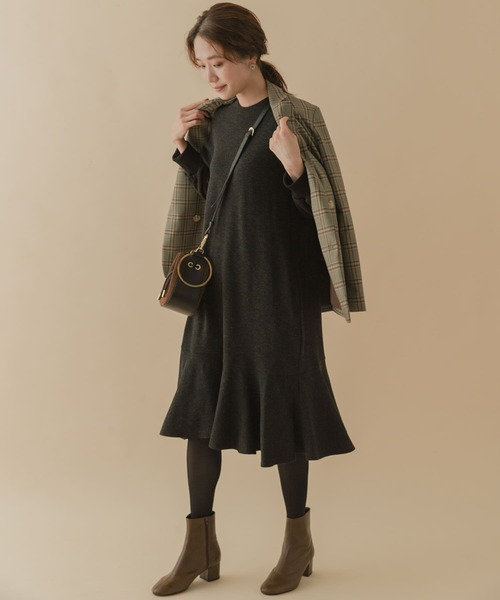[URBAN RESEARCH ROSSO WOMEN] 【高身長向け40サイズあり】F by ROSSO 裾フレアワンピース