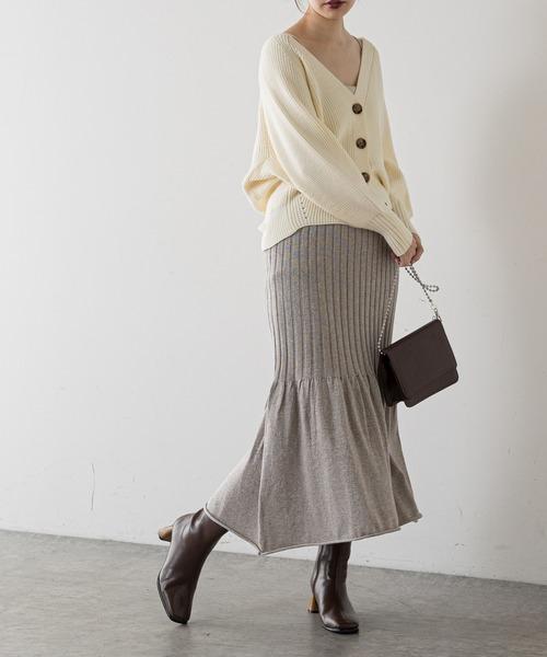 [natural couture] もちもちプチプラアイレットカーディガン