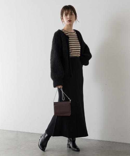 [natural couture] 【WEB限定】マーメイドニットスカート