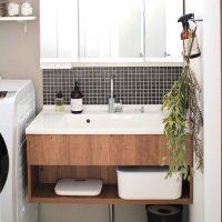 洗面台下の空間を無印商品で無駄なく収納するアイデア特集。デットスペースも活用