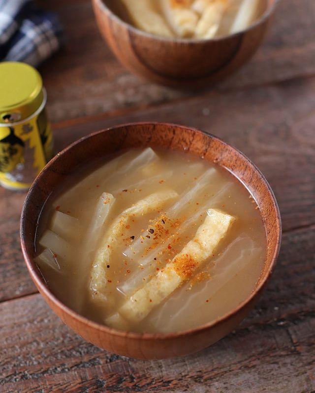 大根と油揚げのお味噌汁