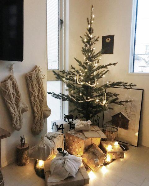 クリスマス飾り手作りツリー