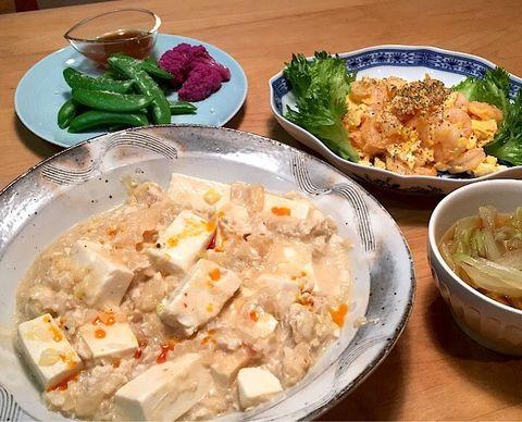 豆乳入り白麻婆豆腐