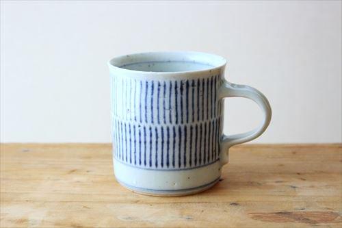 マグカップ(筒) 呉須刷毛目 磁器 砥部焼 中田窯