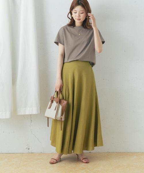[URBAN RESEARCH ROSSO WOMEN] リネンサーキュラースカート