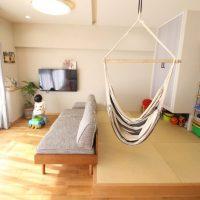 広がりを感じる、オープンな間取りと回遊動線。戸建てからマンションへの住み替えリノベーション