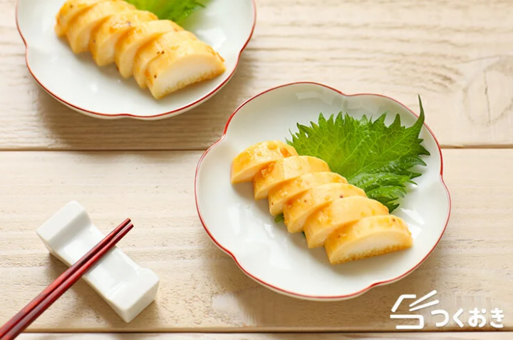 箸休めに人気、山芋の味噌漬け