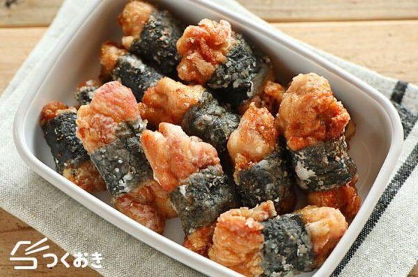 子供に人気の海苔巻きチキンから揚げレシピ