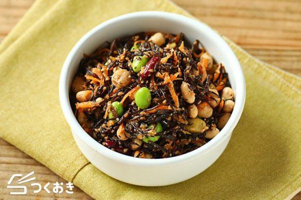 ヘルシーな豆とひじきの健康サラダレシピ