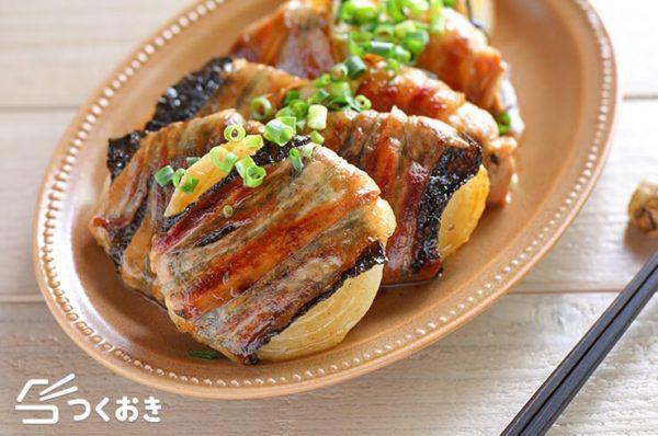 玉ねぎの豚肉巻きバター醤油味レシピ