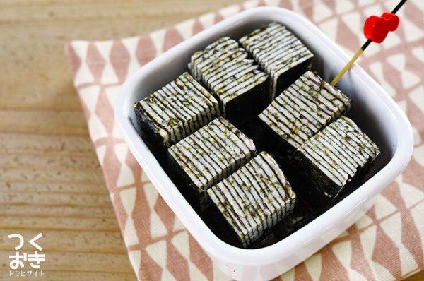 おしゃれな海苔とチーズのミルフィーユレシピ