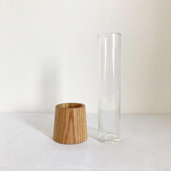 ブリキスティックとガラスの花瓶5