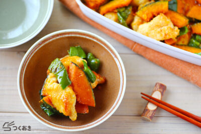 作り置きに鶏肉とピーマンの和風カレーマリネ