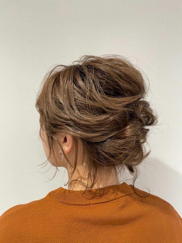 華やかな冬のヘアアレンジ