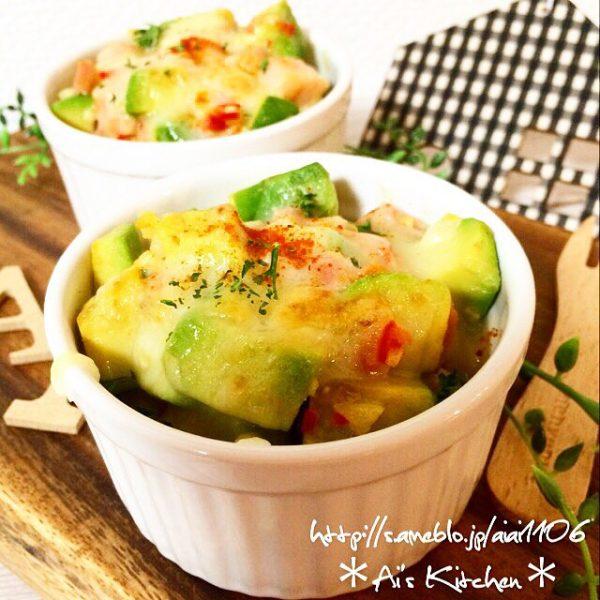 朝ごはんに合う味噌マヨ和風アボカドグラタン