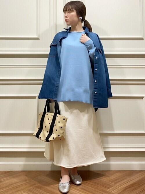 SHIPS any: USAコットン フレア スカート