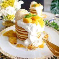 カフェみたいな「パンケーキ」のおしゃれな盛り付け例。簡単なコツ教えます◎