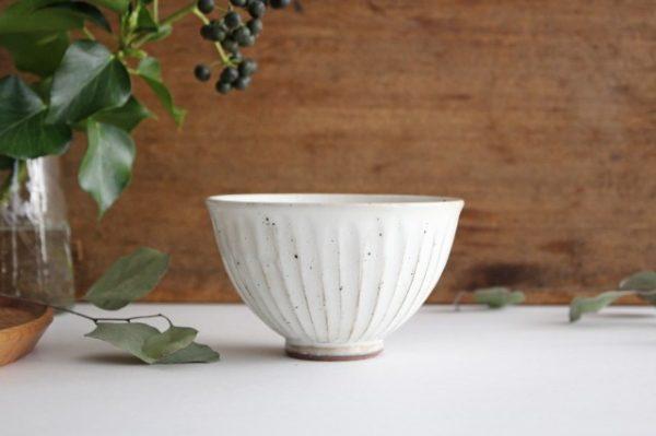 美濃焼 粉引削り飯碗 陶器