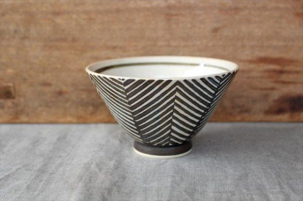 波佐見焼 ORIME ヘリンボーン 茶碗 ブラウン 陶器