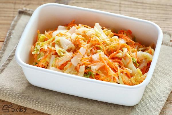 日持ちする白菜と人参の和風マヨサラダレシピ