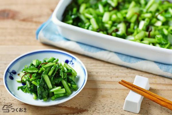 くせがなく食べやすいかぶの葉の浅漬けレシピ