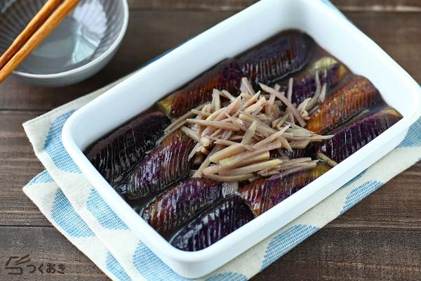 生姜の風味が美味しいなすの生姜煮レシピ