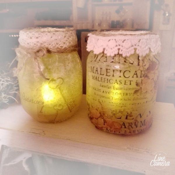 空き瓶でおしゃれな手作りライト