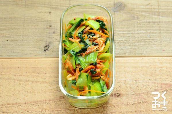 チンゲン菜と桜えびの炒め物レシピ