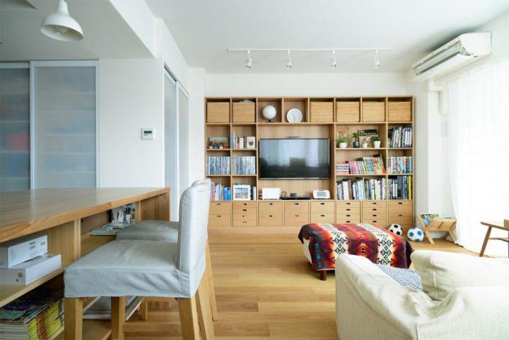 無印の家具でモジュールを統一。素材感あふれるシンプルリノベーション